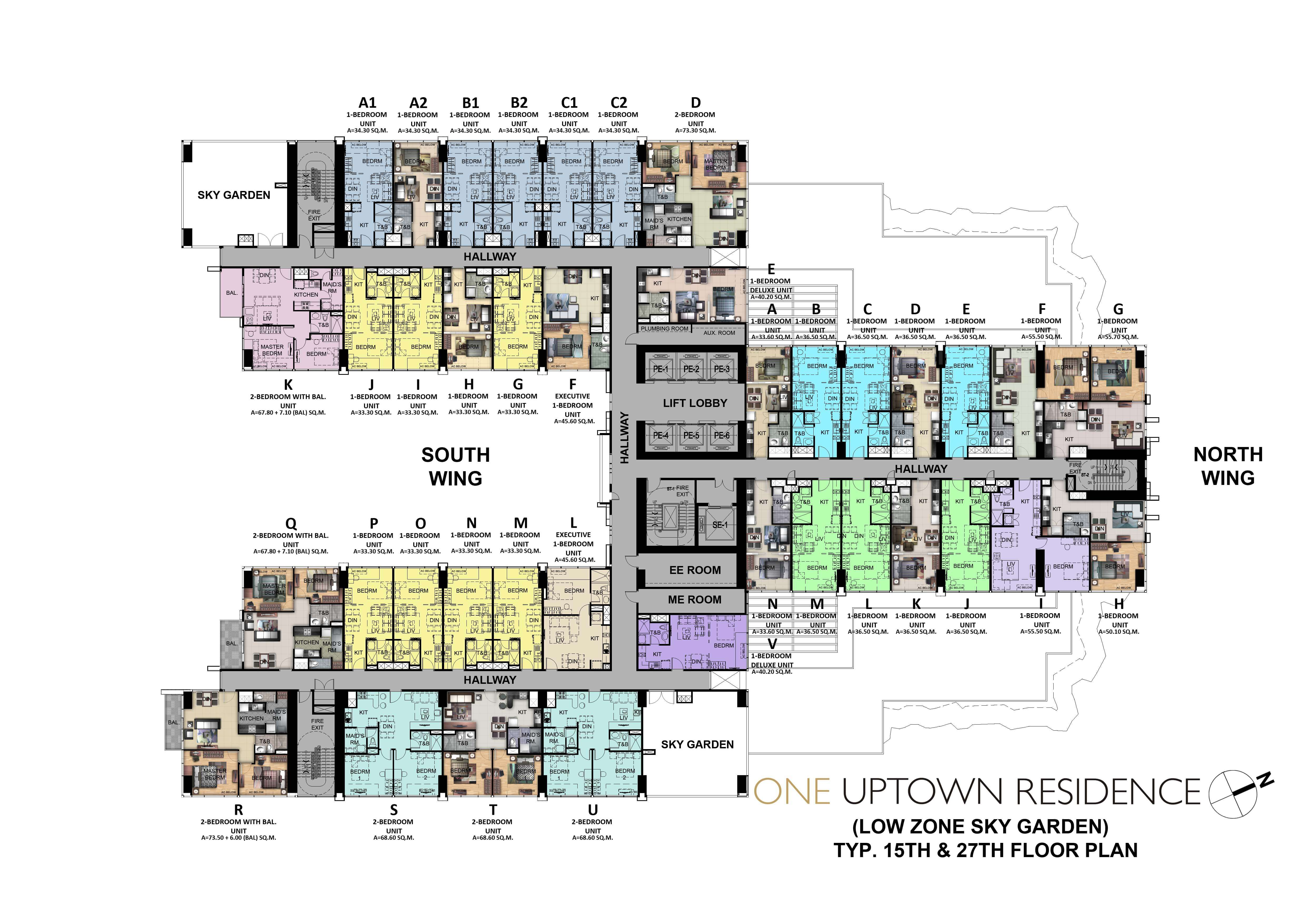 One Uptown Residence-Floor-Plans-Condos-for-sale-15TH & 27TH