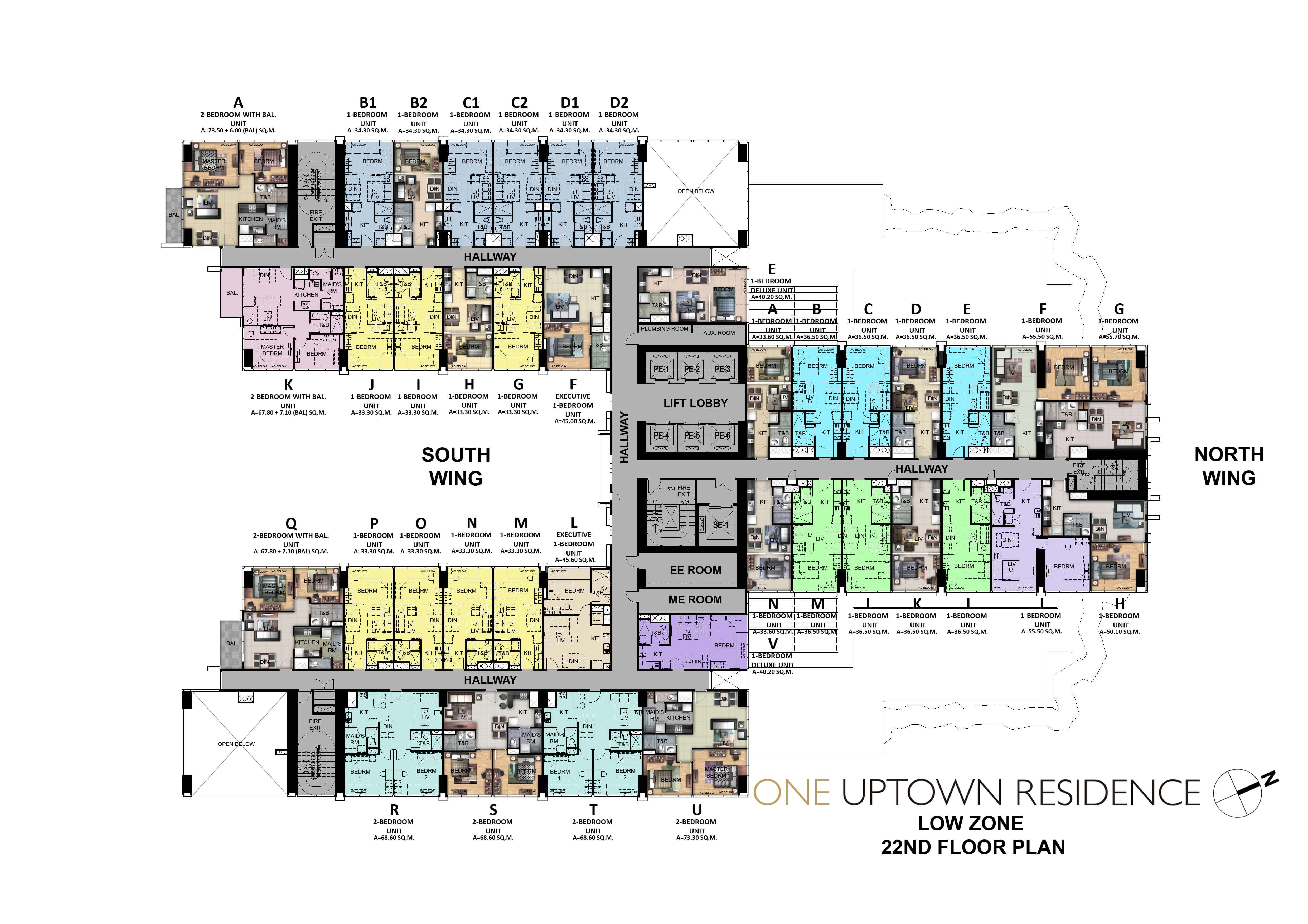 One Uptown Residence-Floor-Plans-Condos-for-sale-22ND