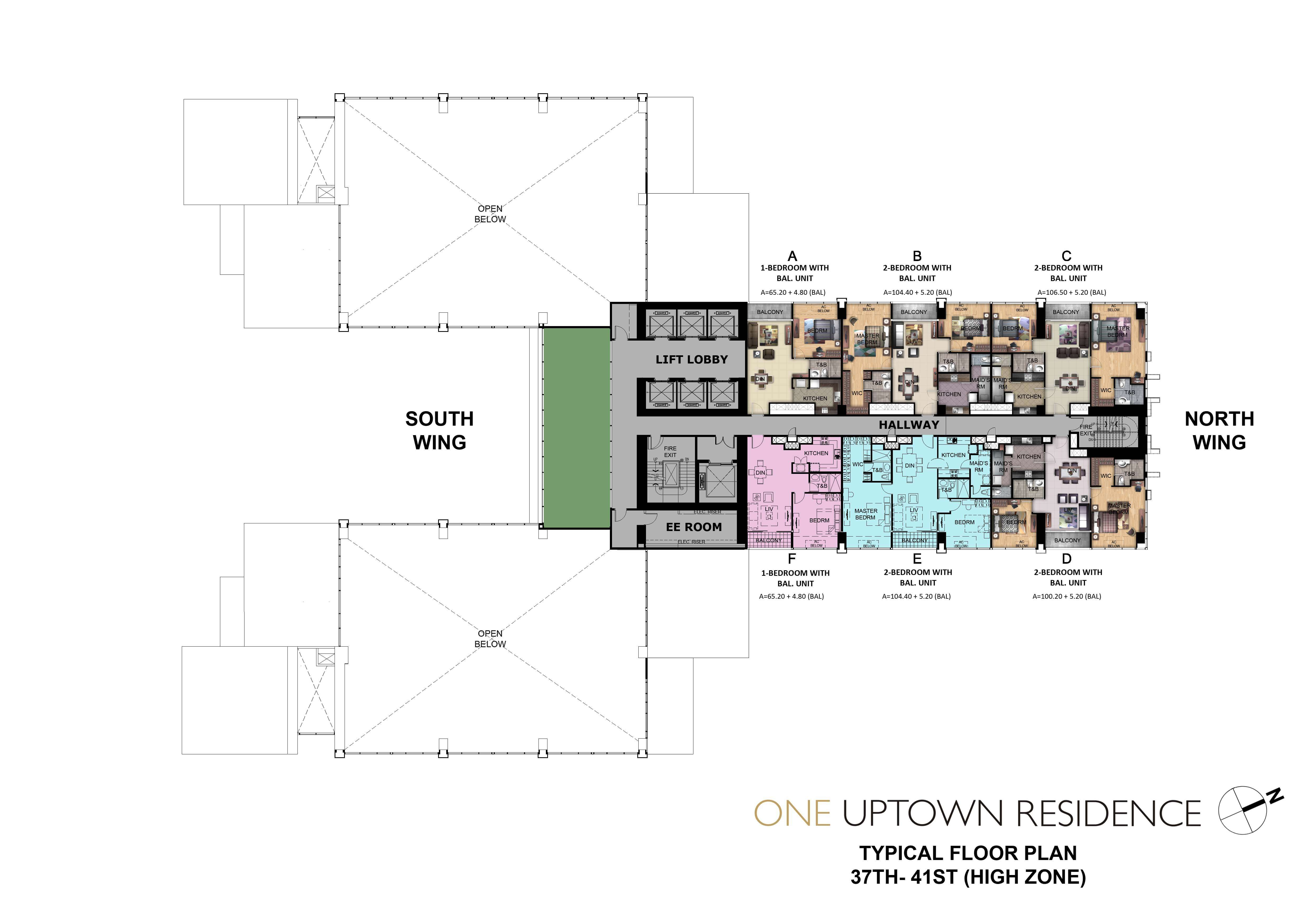 One Uptown Residence-Floor-Plans-Condos-for-sale-37th - 41st