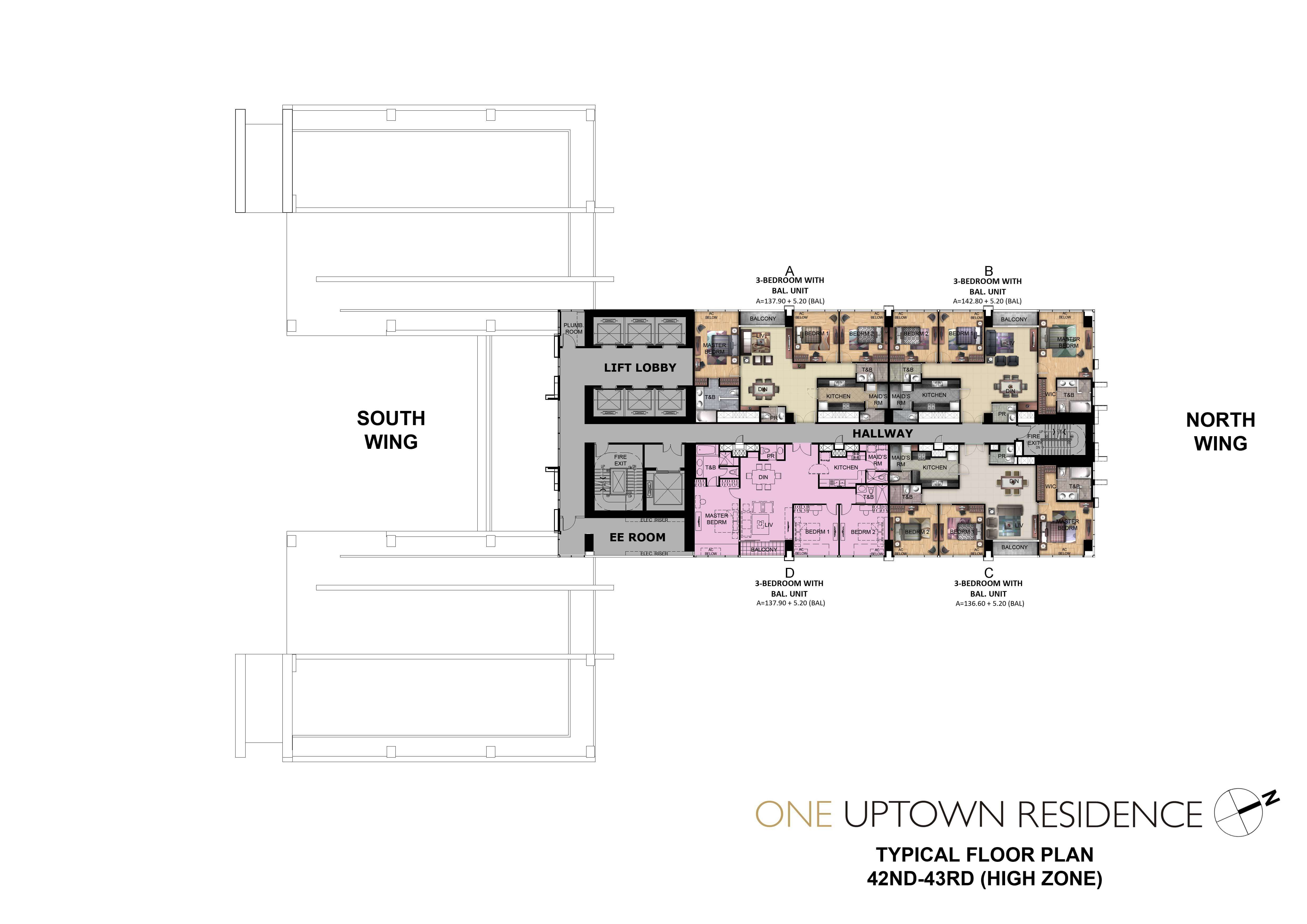 One Uptown Residence-Floor-Plans-Condos-for-sale-42ND-43RD