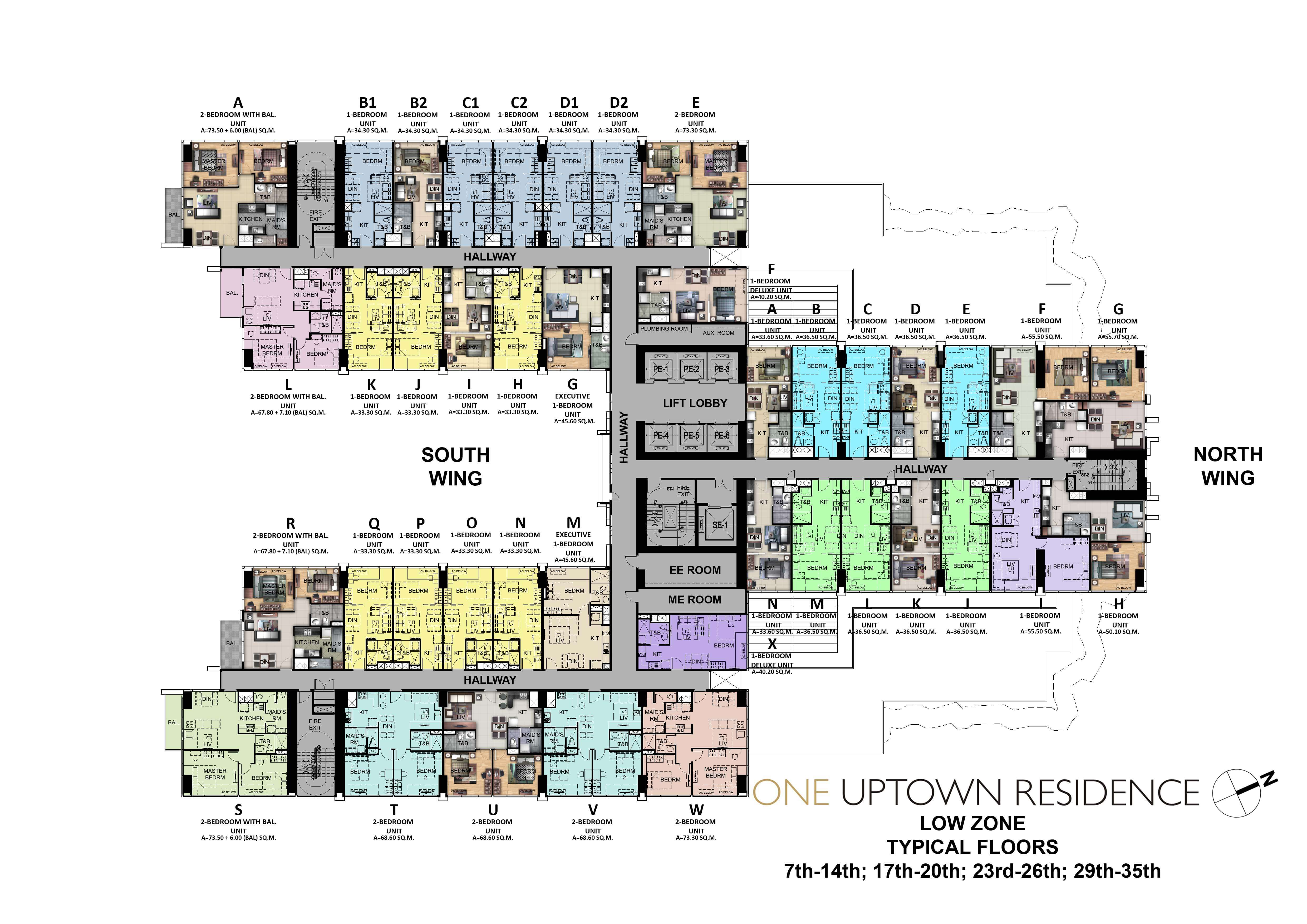 Polo Towers Floor Plan One Uptown Residence Most Prime Condominium In Global City