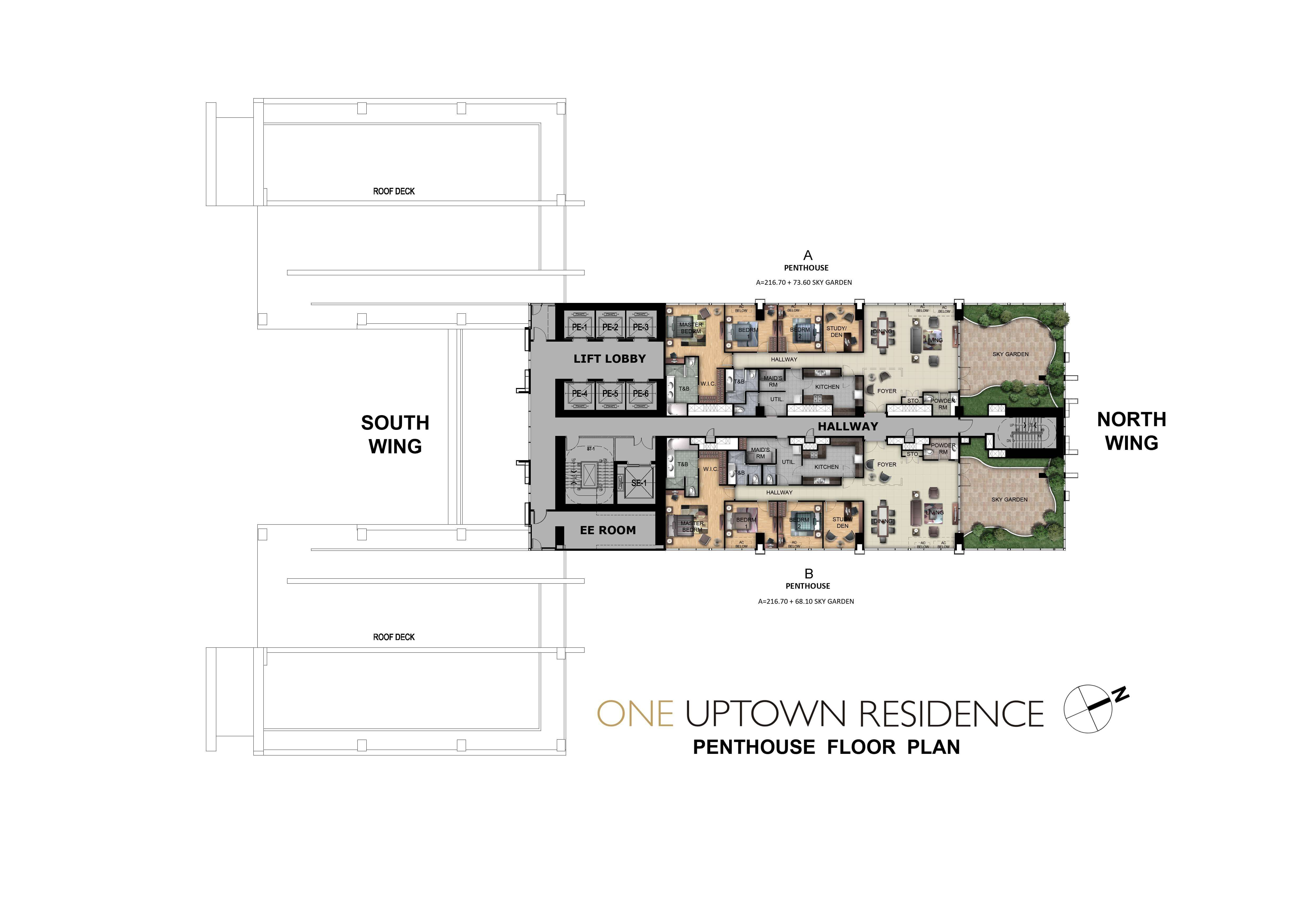 One Uptown Residence-Floor-Plans-Condos-for-sale-PENTHOUSE