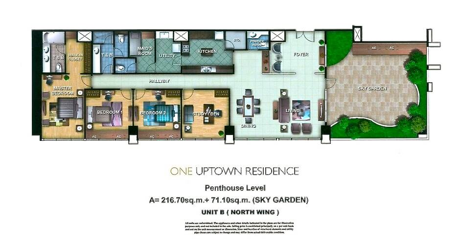 One Uptown Residence Unit Layout Penthouse B (287.8 sqm) EDITED