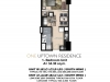 One Uptown Residence Unit Layout 1BR (34.3sqm)