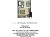 One Uptown Residence Unit Layout 1BR (36,5sqm)