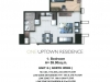 One Uptown Residence Unit Layout 1BR (59sqm)