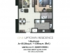 One Uptown Residence Unit Layout 1BR (70sqm)