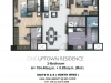One Uptown Residence Unit Layout 2BR (109.6sqm)