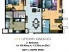 One Uptown Residence Unit Layout 2BR (114.8sqm) EDITED