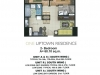 One Uptown Residence Unit Layout 2BR (68.1sqm)