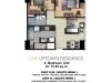 One Uptown Residence Unit Layout 2BR (73.3sqm)