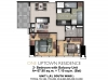One Uptown Residence Unit Layout 2BR+Bal (74.9sqm)