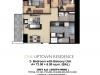 One Uptown Residence Unit Layout 2BR+Bal (79.5sqm)