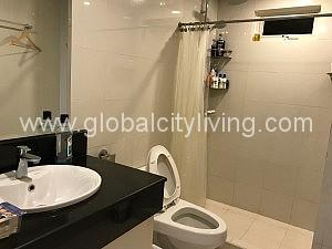 Toilet and Bath Two Bedroom Condo For Rent Tuscany Mckinley Hill Fort Bonifacio