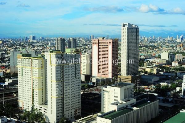 Aerial view on Makati - modern financial and business district of Metro Manila, Philippines