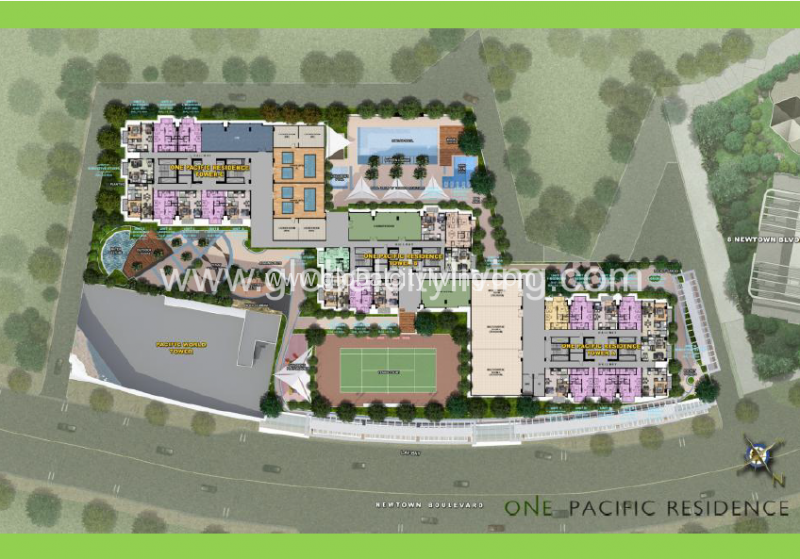 one-pacific-residences-site-plan-condos-for-sale-ready-for-occupancy-mactan-cebu-philippines