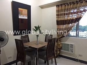 Living Room One Bedroom Condo For Sale Morgan Suites Mckinley Hill