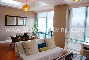 Living Room One Bedroom Condo For Sale in Bellagio One Bonifacio Global City