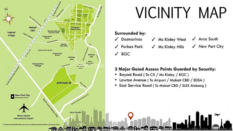 Vicinity Map House and Lot For Sale in Afpovai Fort BGC