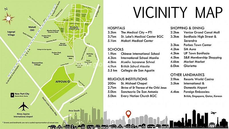 vicinity map house and lot for sale afpovai fort bonifacio globa