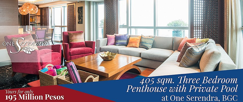 Three-Bedrooms-Penthouse-Condo-For-Sale-in-One-Serendra-East-Bonifacio-Global-City-Taguig-BGC
