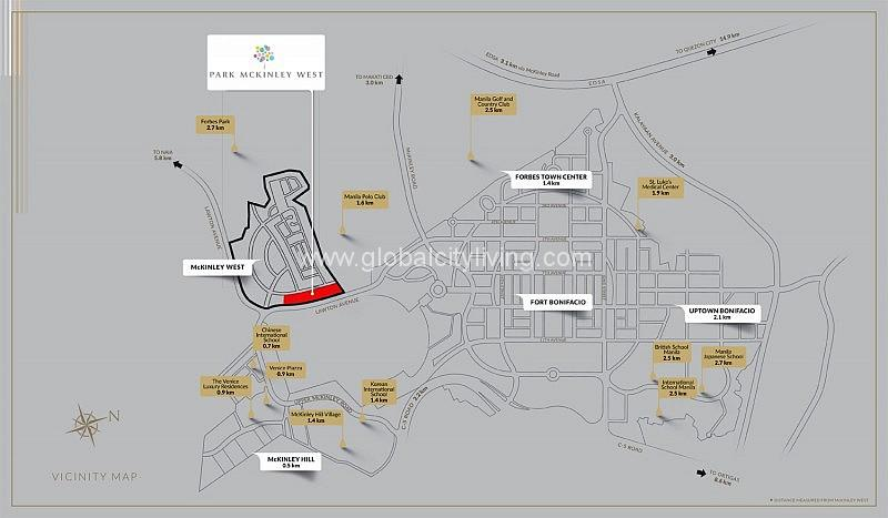 Vicinity Map Park-McKinley-West-Preselling Condo For Sale in Mckinley West Fort Bonifacio BGC