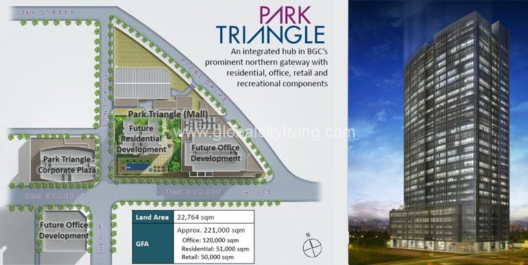 Park Triangle Residences - Bonifacio Global City Condo For Sale Location