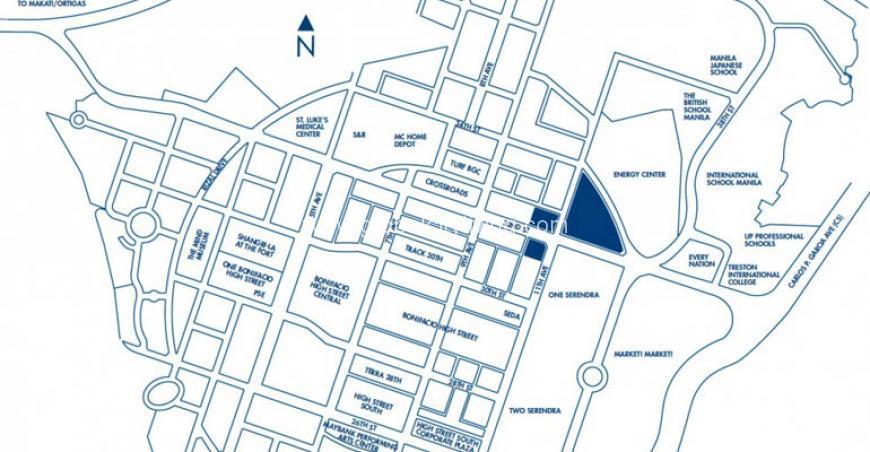 Park Triangle Residences Location Map BGC