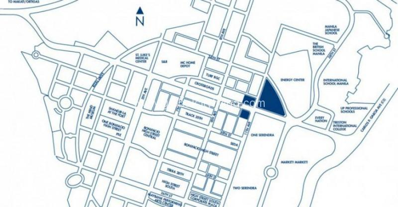 Park Triangle Residences Location Map BGC