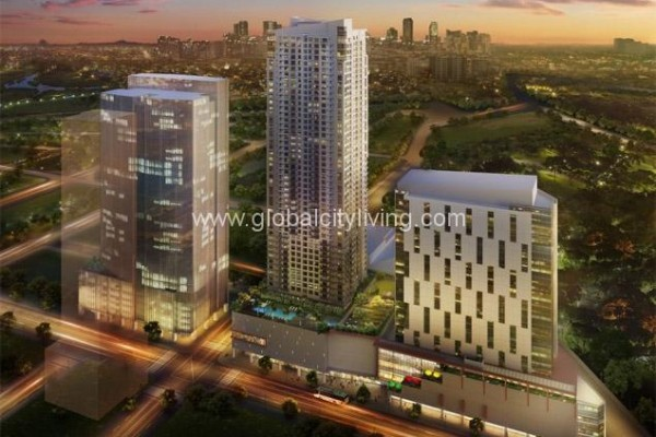 park triangle facade condo for sale in bonifacio global city