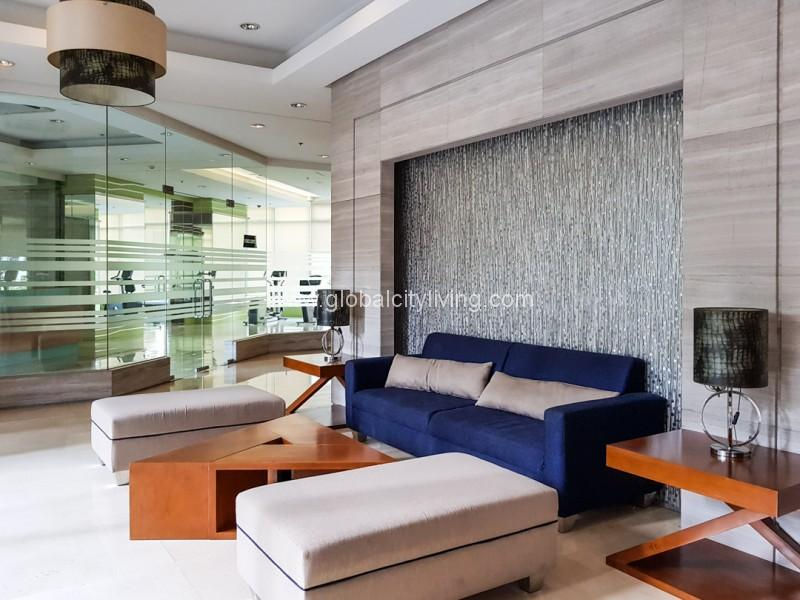 Trion Tower Lobby BGC Condo For Sale
