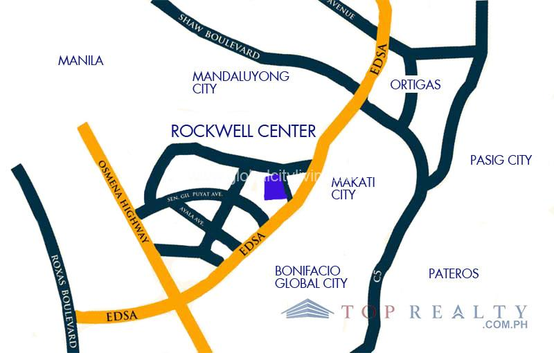 Proscenium-at-Rockwell-Condo-For-Sale-Location-Map