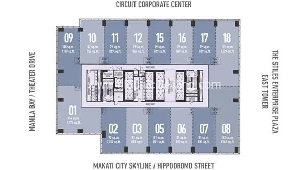 floor plan office space for sale in circuit makati city