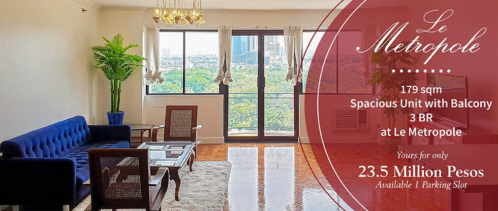 3br condo for sale at le metropole in makati city