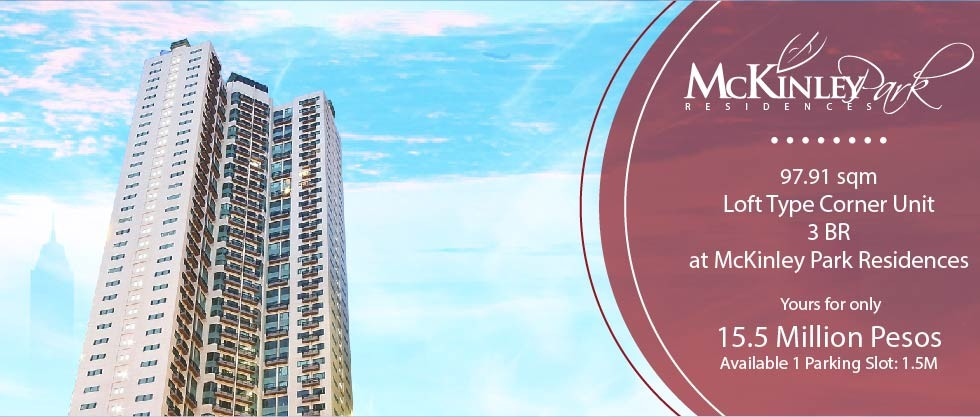 3br condo for sale at mckinley park residences fort bonifacio bgc