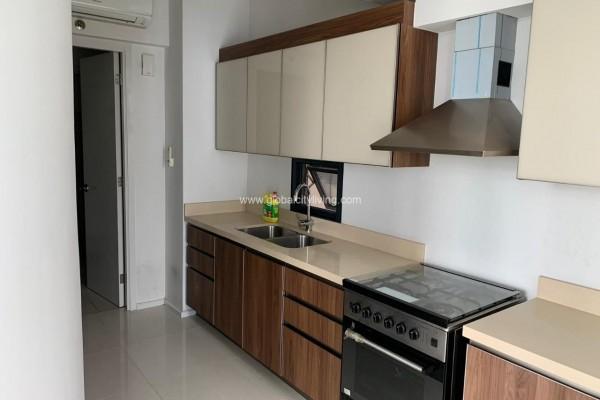 kitchen 2br condo for sale at arya residences fort bonifacio bgc