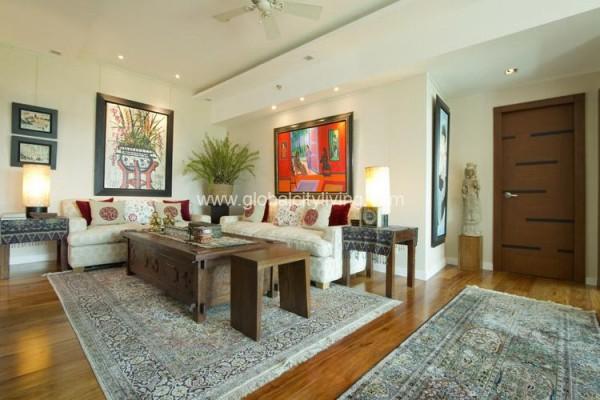 living area three bedroom condo for sale in 8 forbestown road fort bonifacio