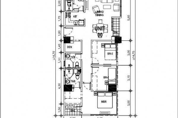 unit layout three bedroom condo for sale in madison park west fort bgc