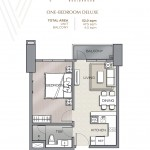 ONE-BEDROOM DELUXE UNIT PLAN Velaris residences floor plans preselling condo for sale in pasig city