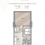 ONE-BEDROOM EXECUTIVE TERRACE SUITE UNIT PLAN Velaris residences floor plans preselling condo for sale in pasig city