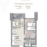 ONE-BEDROOM EXECUTIVE UNIT PLAN Velaris residences floor plans preselling condo for sale in pasig city