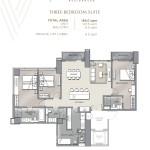 Velaris residences floor plans preselling condo for sale in pasig city THREE-BEDROOM SUITE UNIT PLAN